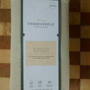 Threshold Ultra Soft Flat Sheet Queen Brown Linen